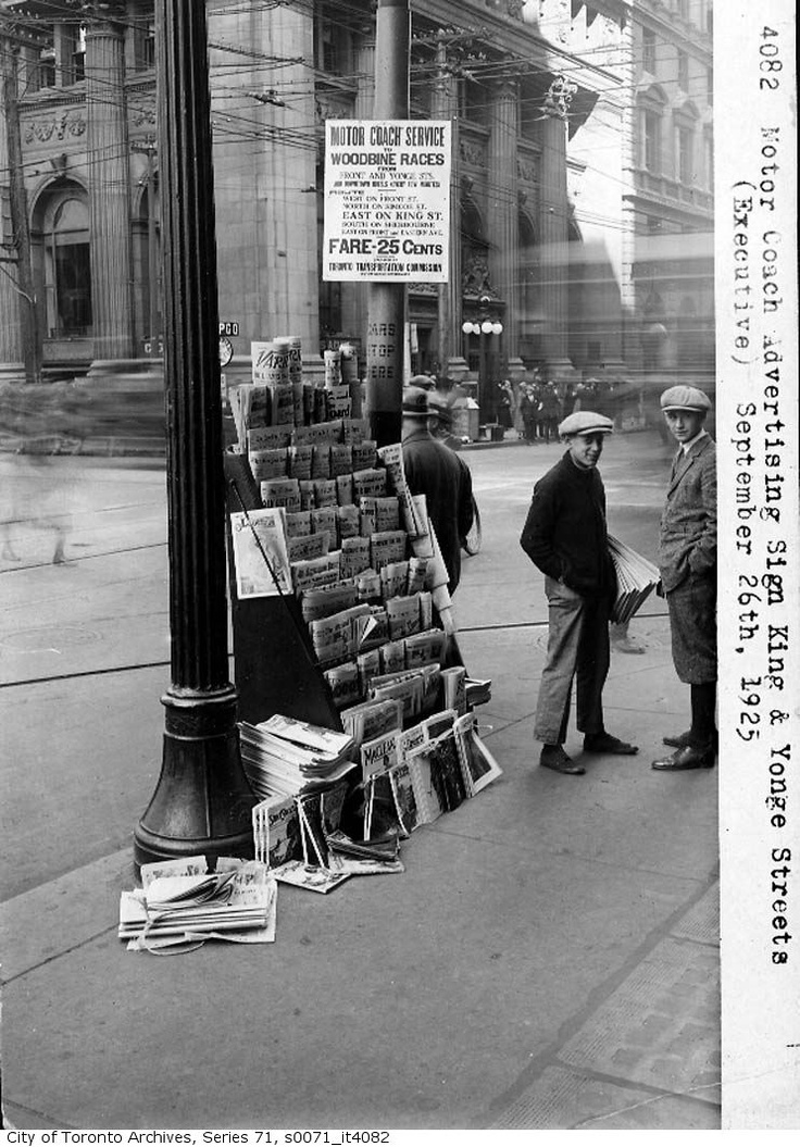 Newspaper Stand On The Corner Of King And Yonge Streets In Toronto Sep 25th