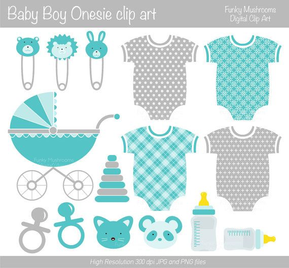 Digital clipart  Baby Boy clip art milk bottle by funkymushrooms, €2.60