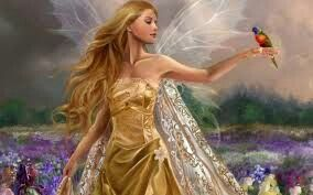 Fairy gold with bird