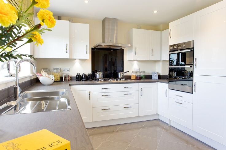 The kitchen in The Canterbury at Buckby Meadows in Long Buckby | Bovis Homes