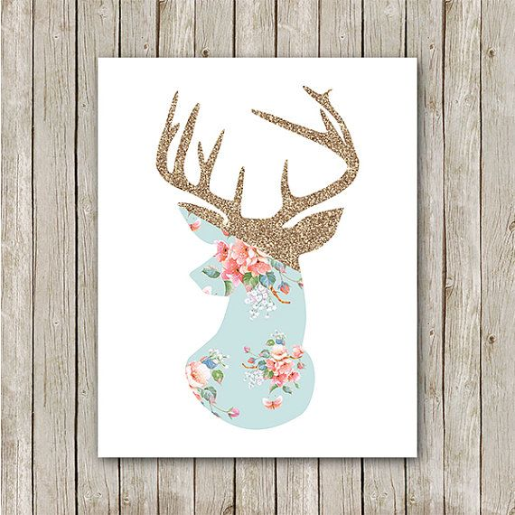 Antler Art Print - Instant Download Printable    You'll receive an 8x10 inch printable INSTANT DOWNLOAD of a wonderfully creative art print for