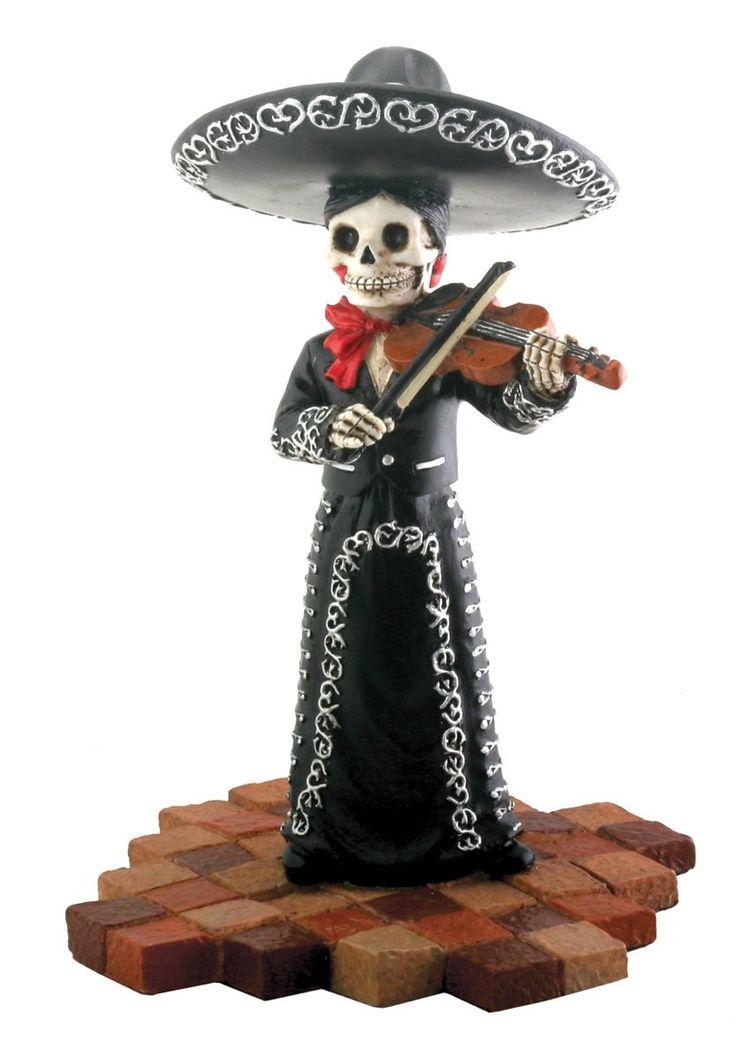 Amazon Com Skeleton Skull Black Mariachi Band Violin