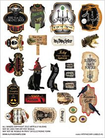 Apothecary Labels #1 Collage Sheet Great idea for bottle designs too