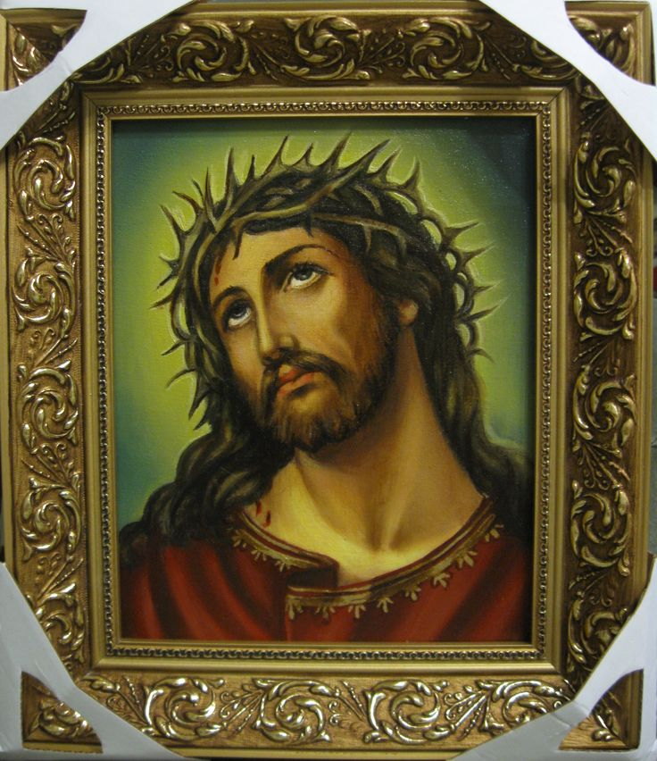 Иисус Христос (20х25,холст,масло,2017 г.)