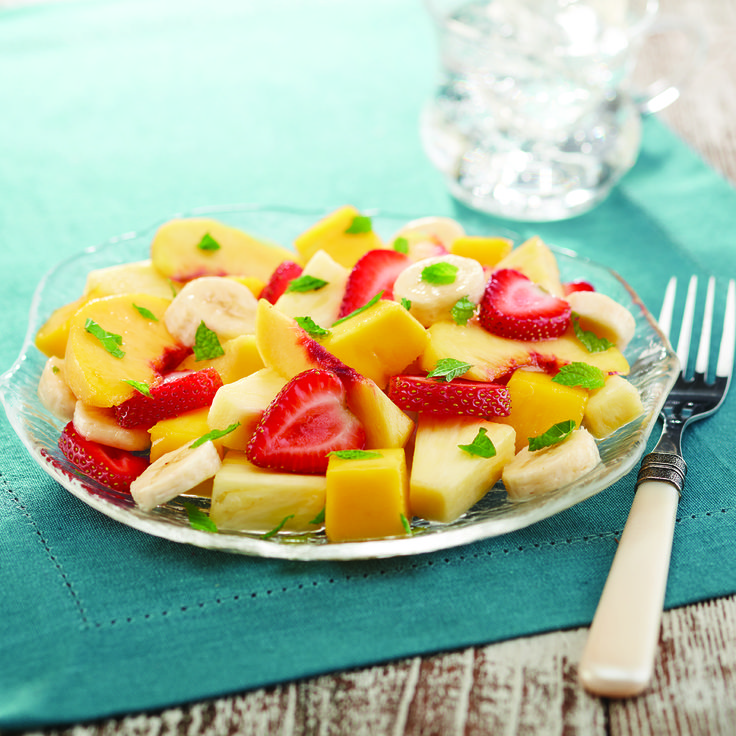 Mixed Fruit Salad With Basil Vinaigrette   Salad   Recipes   Dole Packaged Foods