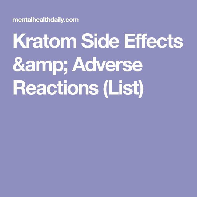 Kratom Side Effects & Adverse Reactions (List)