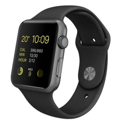 Apple Watch Sport - 42mm Space Grey Aluminium Case with Black Sport Band - Apple (UK)