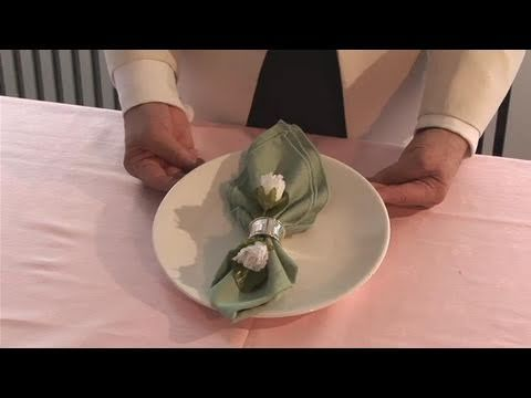 How To Set Up Napkin Rings - YouTube
