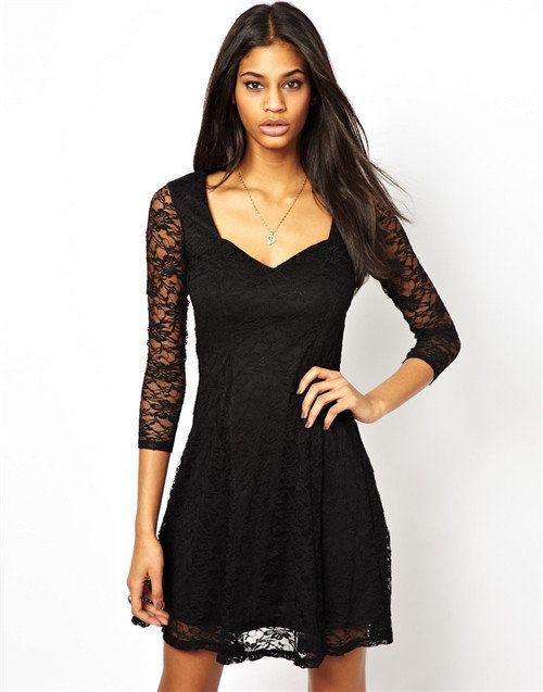 2014 NEW Women Sexy Lace Slim fit Dress 4 colors, DR1123-A02 US $7.99