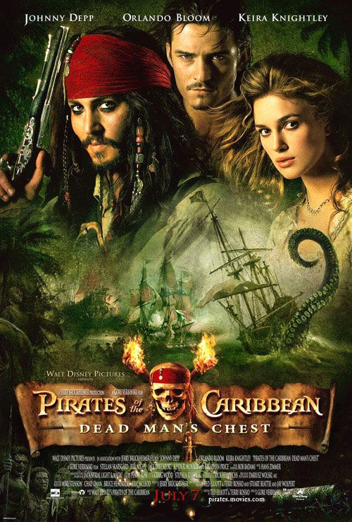 [ PIRATES OF THE CARIBBEAN: DEAD MAN'S CHEST POSTER ] Plan your #WinterEscape in #Bluefields #Jamaica at www.lunaseainn.com