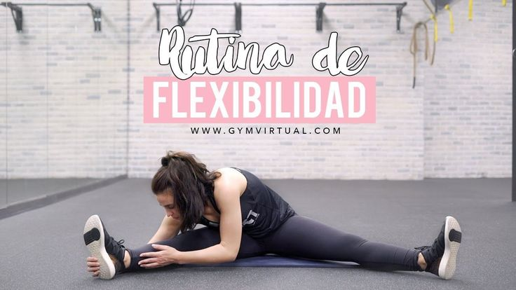Rutina de flexibilidad para relajarse después del entrenamiento