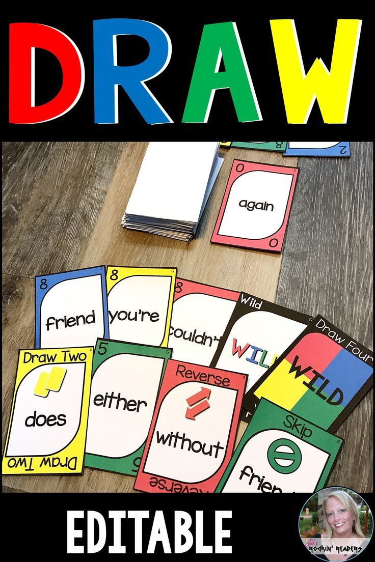 Blank Uno Cards Editable Reading Games For Kindergarten Uno Cards Kindergarten Games