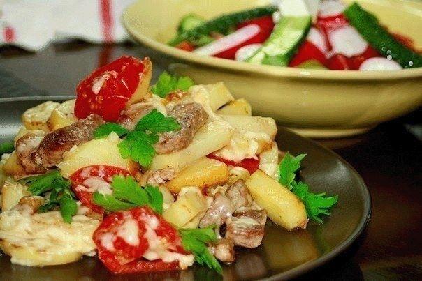 Фото к рецепту: Картофель «По-французски» на сковороде
