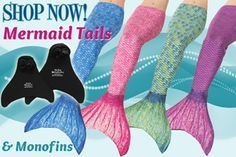 Fin Fun Mermaid - makers of real mermaid tails you can swim in! Our mermaid tail and monofin combination provides the look, movement and fun of swimming like a real mermaid. Adult sizes to toddler mermaid costumes and matching swim suits, too!