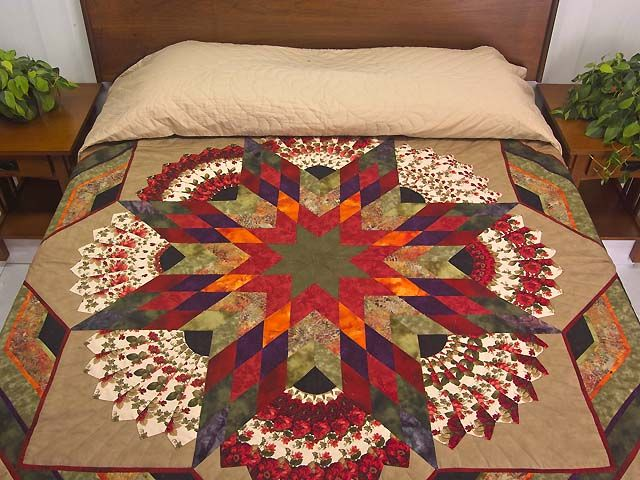 Bertha Quilt -- terrific specially made Amish Quilts from Lancaster (hs5471)
