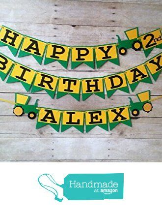 Tractor Birthday Banner - party supplies - party banners - decorations - personalized - john deere from Party Ridge https://www.amazon.com/dp/B01CWN6O2A/ref=hnd_sw_r_pi_dp_RZNCxbZ6DBHQF #handmadeatamazon