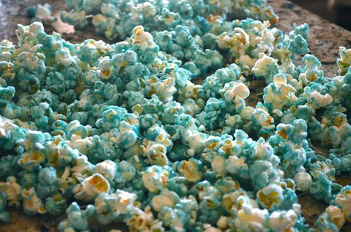 microwave jello popcorn-so yummy.  I'm glad I found a microwave recipe for it!  :)