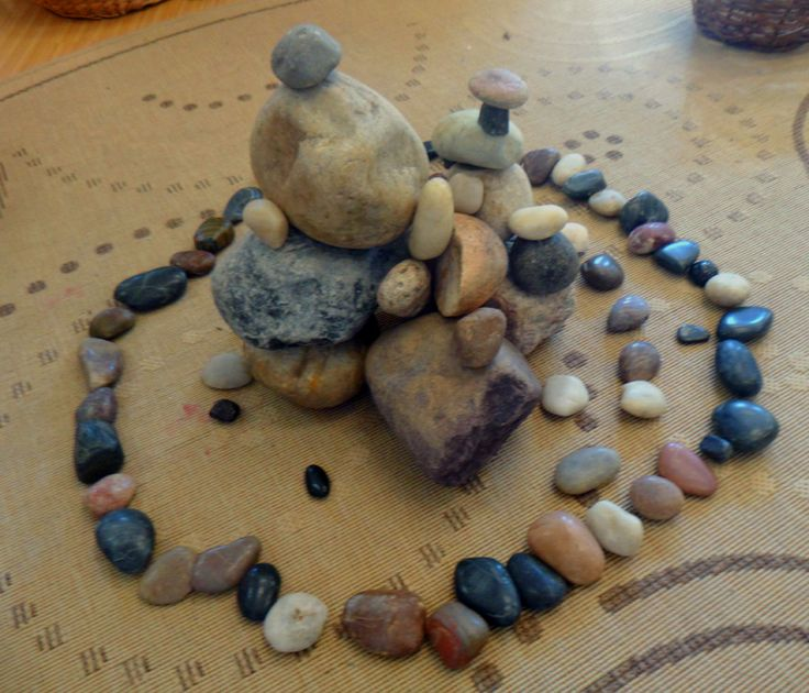 "Balancing rocks: ""Your body must be steady before you try to balance a rock."""