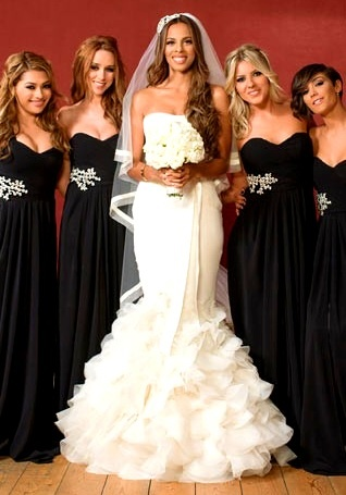 Rochelle & Marvin Humes wedding: Rochelle with bridesmaids. #Celebstylewed