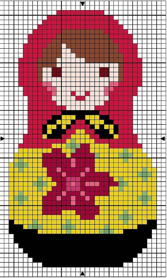 Matryoshka Doll Cross-stitch Pattern. I wanna stitch it on a pillow! by CheechtheAwesome
