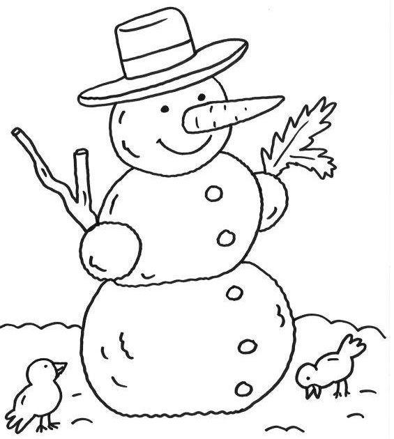 Kostenlose Ausmalbilder Und Malvorlagen Schneemänner Zum