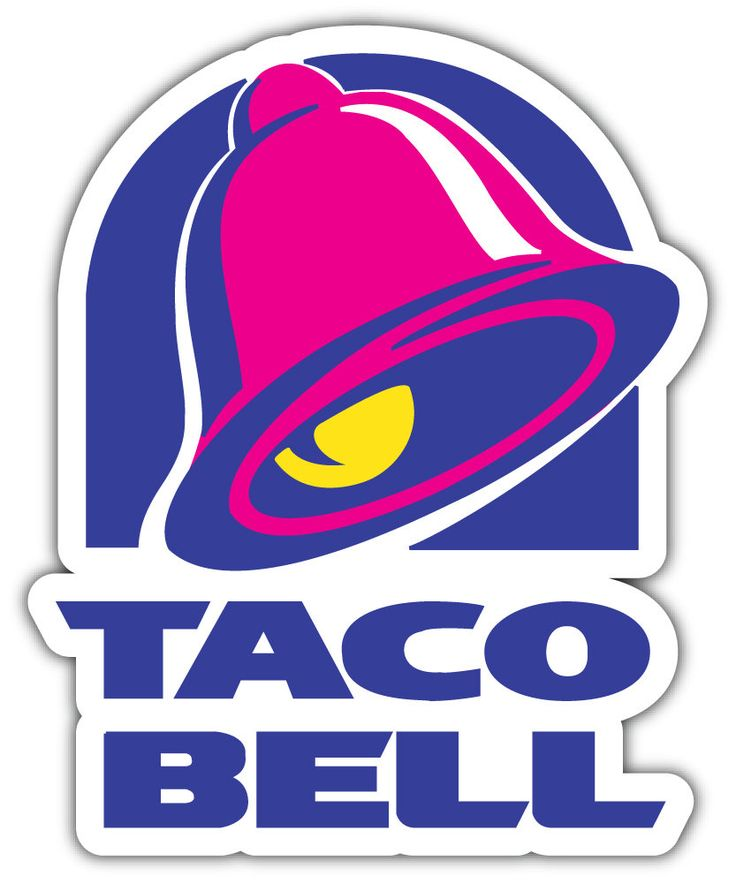 Taco Bell Logo Sticker Car Bumper Decal by NewhorizonUS on
