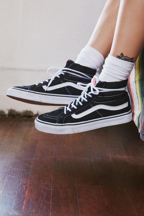 Sneakers femme - Vans Sk8-Hi