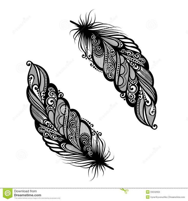 oiseau abstrait de plume tatouage pinterest beautiful conception de plume et plumes. Black Bedroom Furniture Sets. Home Design Ideas
