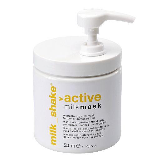Maschera ristrutturante a base di proteine del latte che nutre e rinforza in profondità i capelli secchi e danneggiati da trattamenti troppo aggressivi.