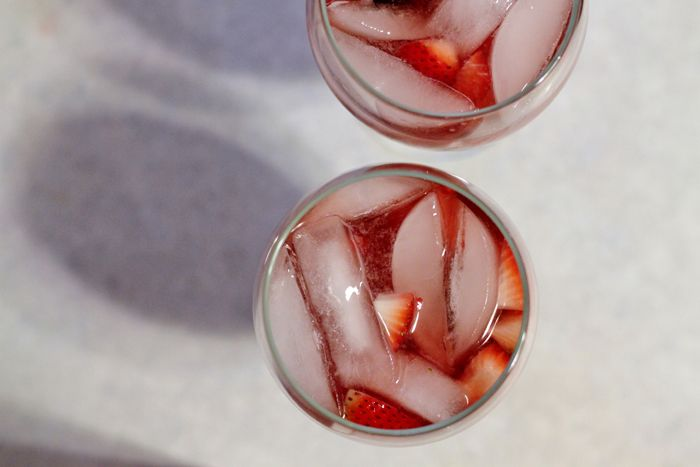 in the kitchen: rosé sangria recipe