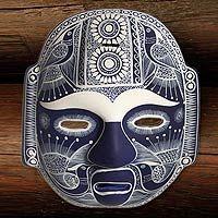 'Midnight Olmeca' ceramic mask celebrates Mexico;s unique flora and fauna.