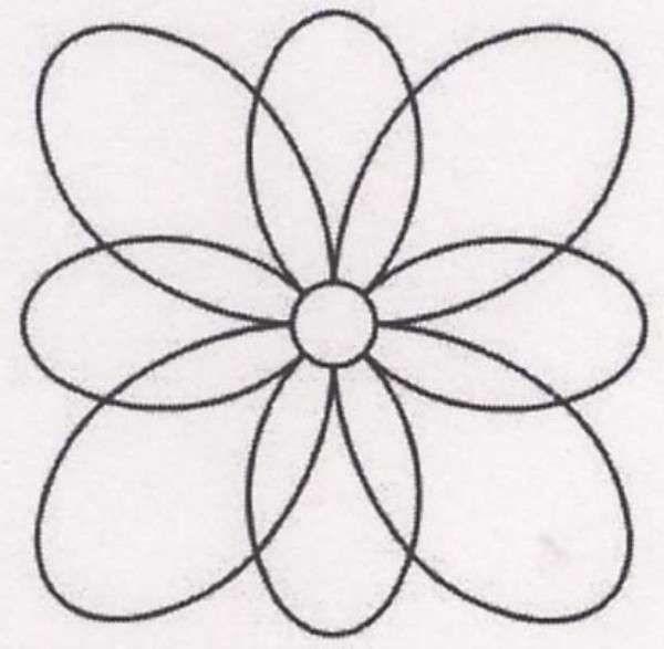 Quilt Stencil Wild Flower