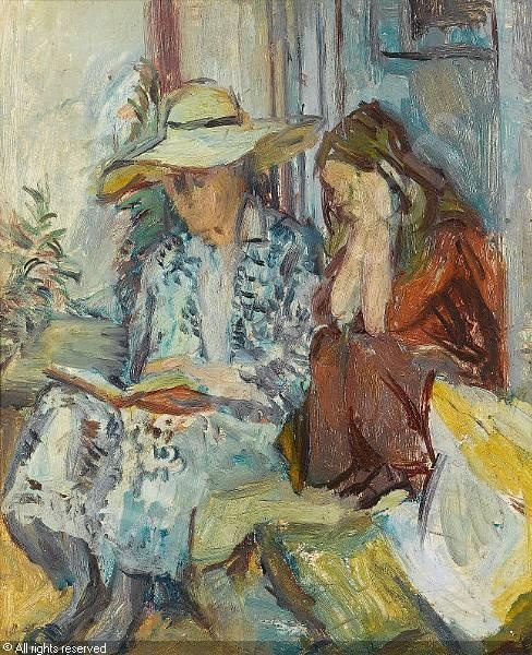 Vanessa Bell with Granddaughter by Duncan Grant