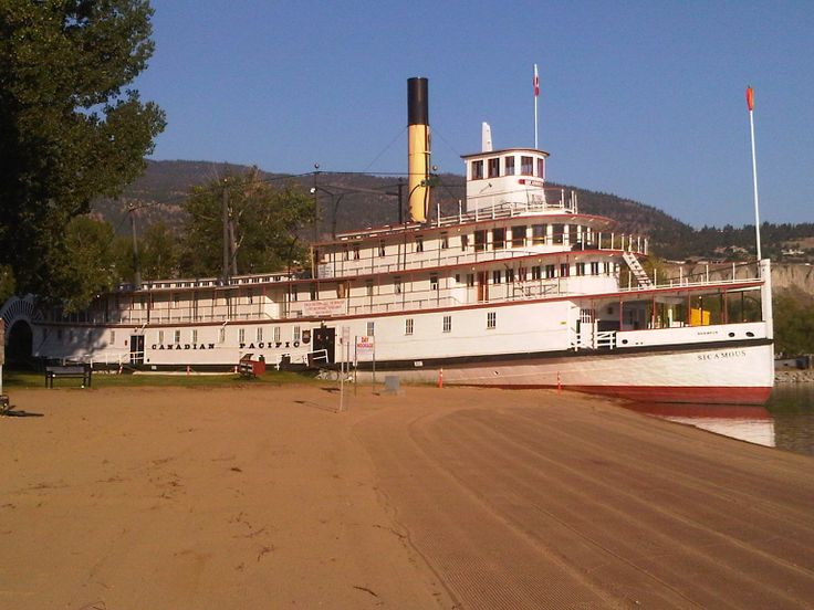 on Okanagan Lake Penticton the SS Sicamous rests as a museum to remind everyone of the era and coal fired steamship