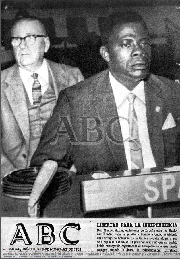 Embajador de Guinea en la ONU ABC-10.11.1965-pagina 001