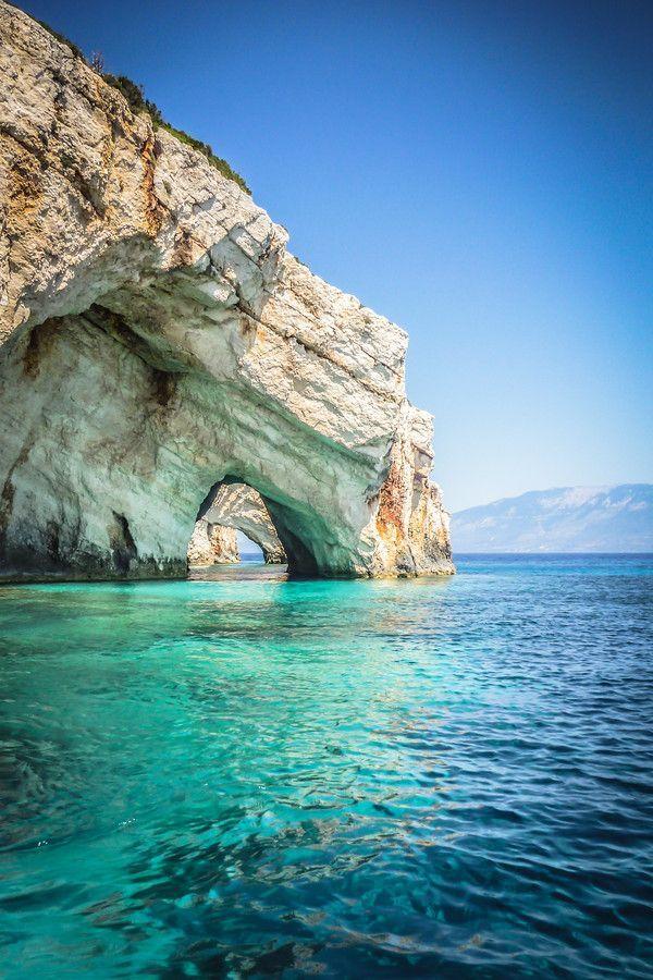 The Blue Caves - Cape Skinari, Zakynthos, Greece #worldtraveler