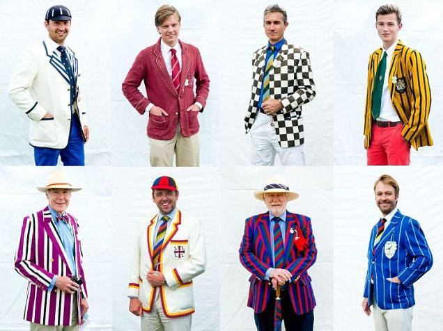 Henley Royal Regatta blazers come in stripes and checks and colors. Loving the London Rowing Club pride top left (a former teammate of mine)!