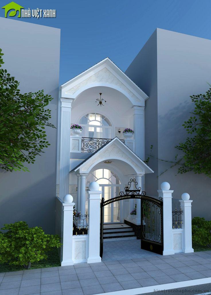 Thiết kế nhà phố 2 tầng phong cách cổ điển 2