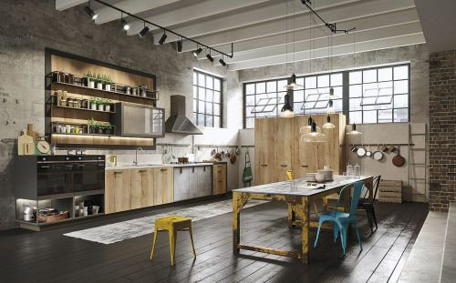 Industrial Looking Kitchen Ideas #ModernHomeDesign #MinimalistHomeDesign #MinimalistInterior #ModernInterior #MinimalistHouse #MinimalistHome #HousePicture #HomePicture #ModernKitchen #MinimalistKitchen #KitchenPicture #KitchenDesign