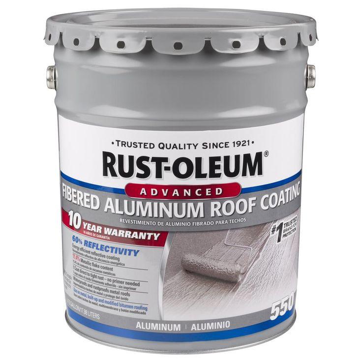 RustOleum 4.75 Gal. 10Year Fibered Aluminum Reflective