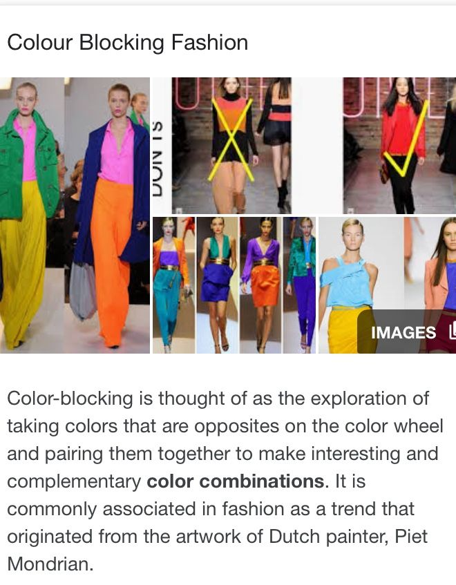 Definition Of Colour Blocking For Better Understanding Colour Blocking Fashion Complementary Colors Definition Of Color