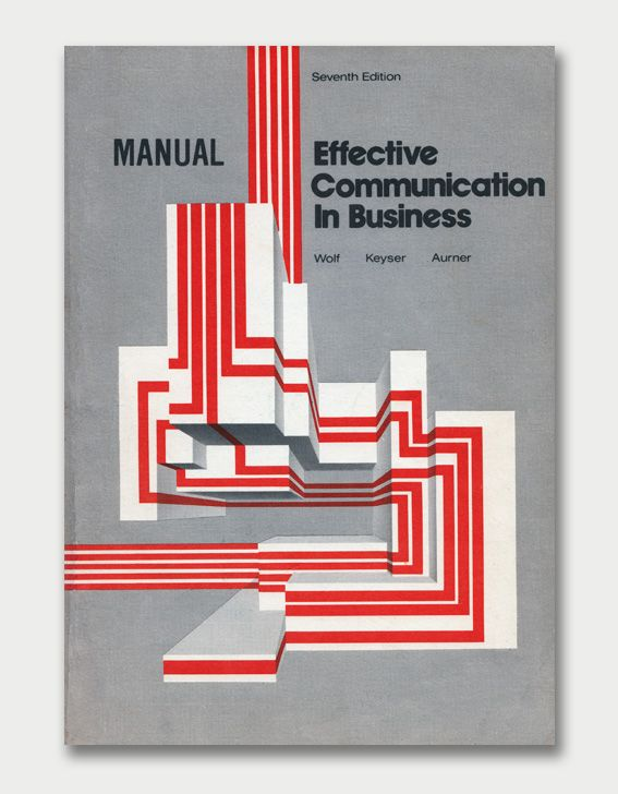 Business Communication Book Cover ~ Manual effective communication in business graphic