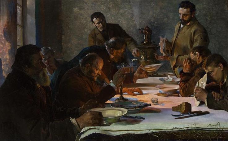"""Jacek Malczewski """"Wigilia na Syberii"""" (1892), Muzeum Narodowe w Krakowie - Sukiennice"""
