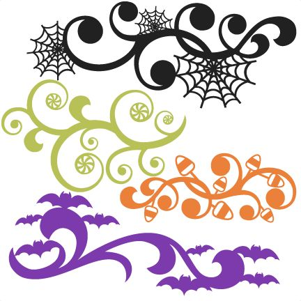 Daily Freebie 9-6-14: Miss Kate's Cuttables--Halloween Flourish Set SVG scrapbook title SVG cutting files crow svg cut file halloween cute files for cricut cute cut files free svgs