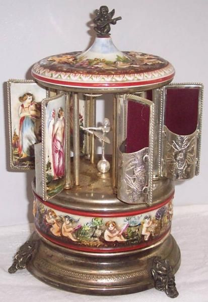 Vintage Reuge Simu Florence Music Box Swiss Movement Plays Love Story