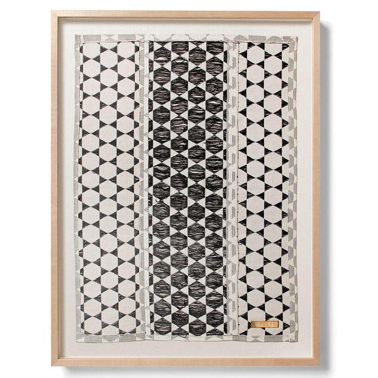 Biddew Noir   Statement Framed Textile