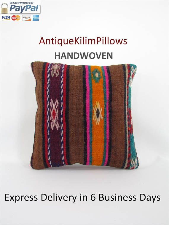 Boho Wedding Decor Patio Decoration Cushion For Bench mothers day gift for mom Throw Pillow Kilim Pillow Cover 16x16 Bohemian Decor