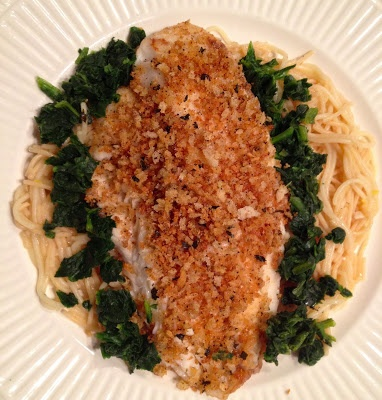 ... Butter Breadcrumbs + Angel Hair Pasta with Garlic White Wine Sauce