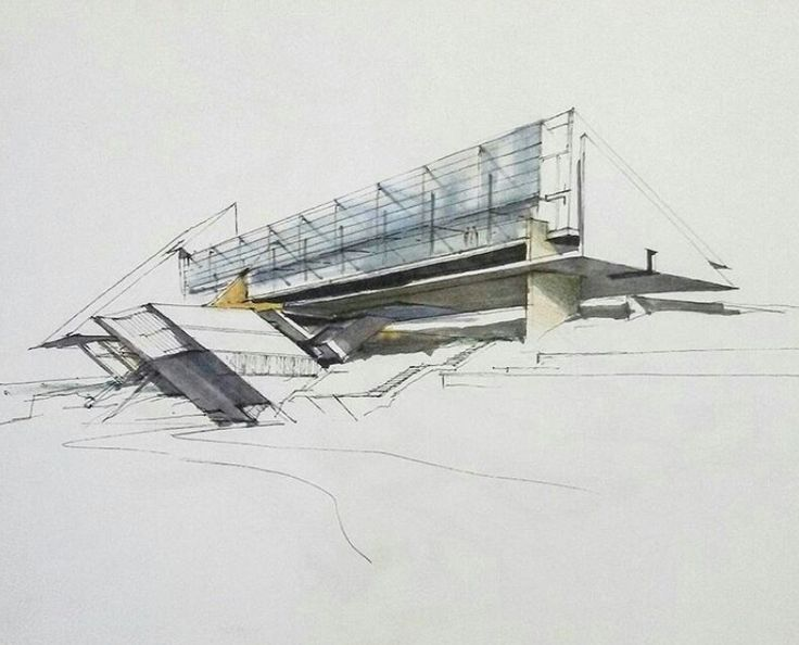 196 best architectural sketches images on pinterest for Architecture sketch