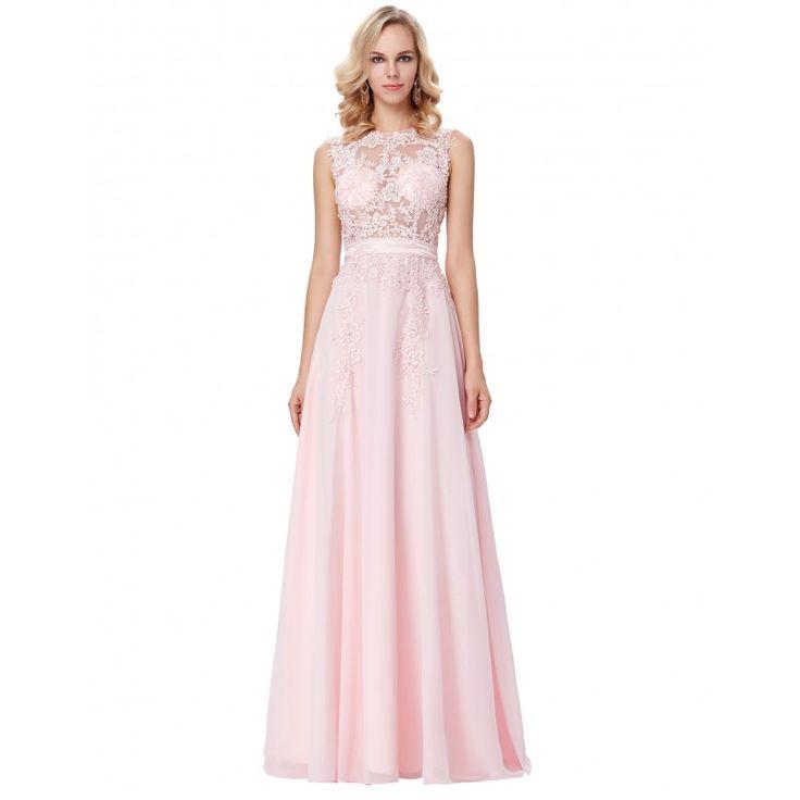 Ružové spoločenské šaty GK000141